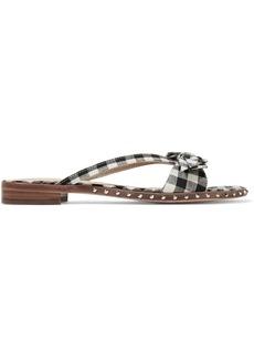 Sam Edelman Delancy studded gingham canvas sandals