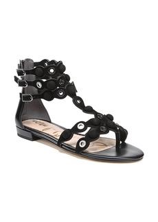 9d816b21bd32 Sam Edelman Sam Edelman Women s Jeni Metallic Leather   Fringe Slide ...