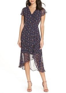 Sam Edelman Ditzy Print Ruched Midi Dress