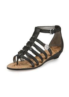 Sam Edelman Donna Leather Gladiator Demi-Wedge Sandal