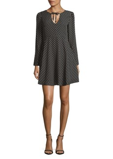 Sam Edelman Dot Bell-Sleeve Dress