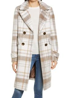 Sam Edelman Double Breasted Tweed Coat