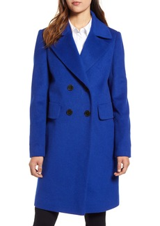 Sam Edelman Double Breasted Wool Blend Coat