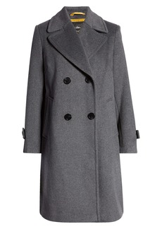 Sam Edelman Double Breasted Wool Blend Twill Coat