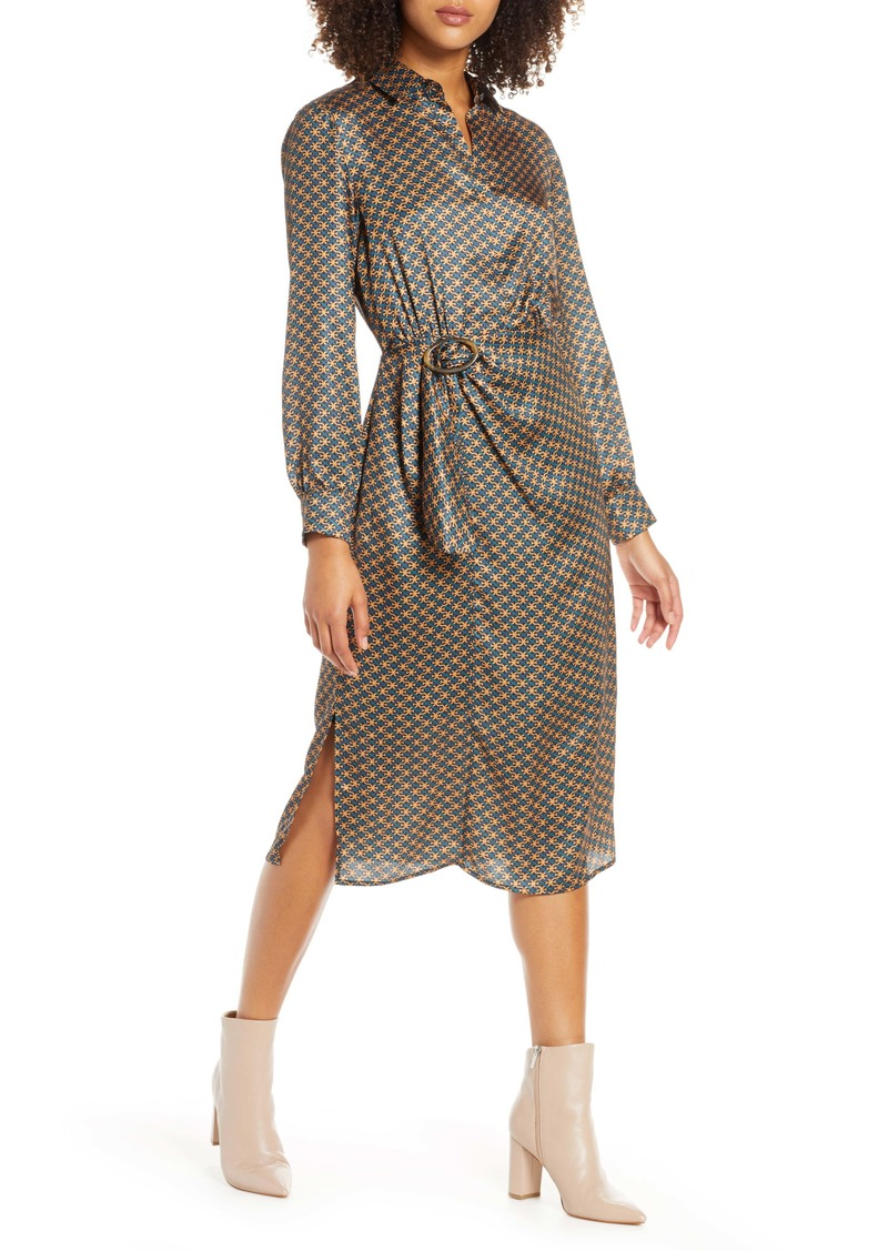 Sam Edelman Double E Heritage Long Sleeve Shirtdress