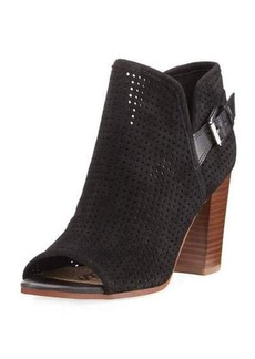 Sam Edelman Easton Perforated Peep-Toe Bootie