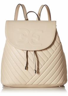Sam Edelman Elise Quilted Flap Backpack modern ivory
