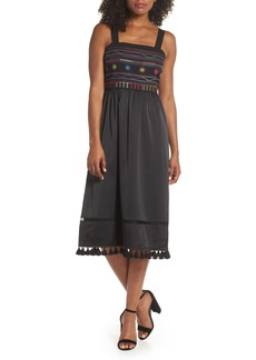 Sam Edelman Embroidered Midi Dress