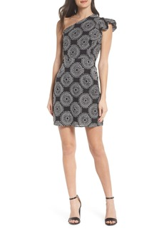 Sam Edelman Embroidered One-Shoulder Sheath Dress