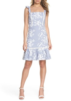 Sam Edelman Embroidered Ruffle Hem Sundress
