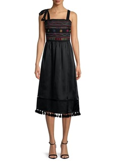 Sam Edelman Embroidered Sleeveless Dress