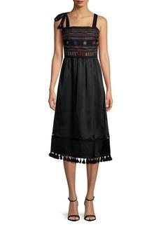 Sam Edelman Embroidered Sleeveless Dress