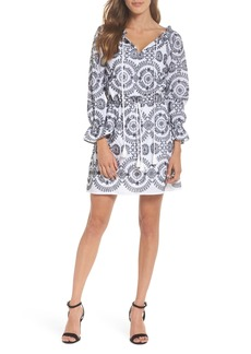 Sam Edelman Embroidered Tile Pattern Dress
