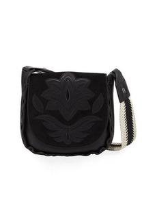 Sam Edelman Emma Leather/Suede Saddle Crossbody Bag