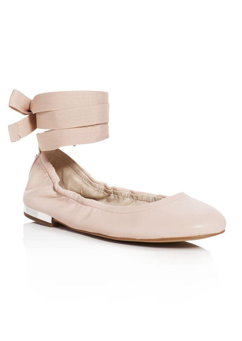 Fallon Ankle Tie Ballet Flats. Sam Edelman