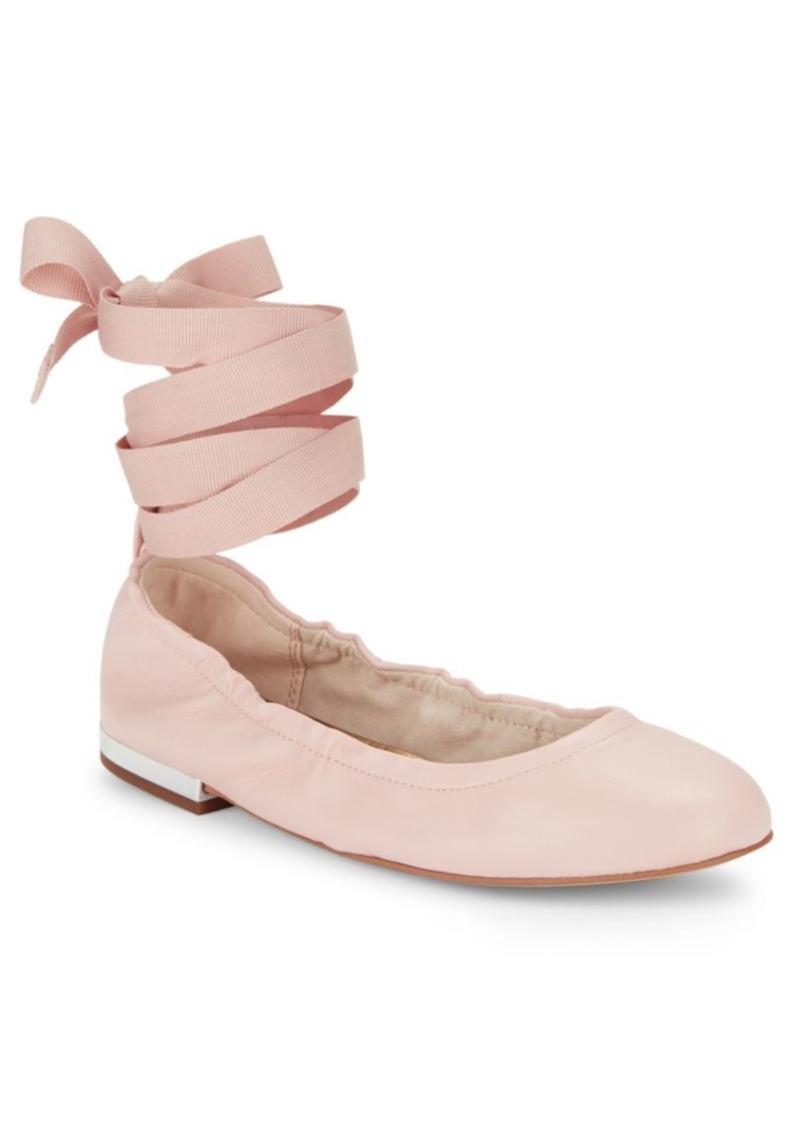 2241e2481 Sam Edelman Sam Edelman Fallon Lace-Up Leather Ballet Flats | Shoes