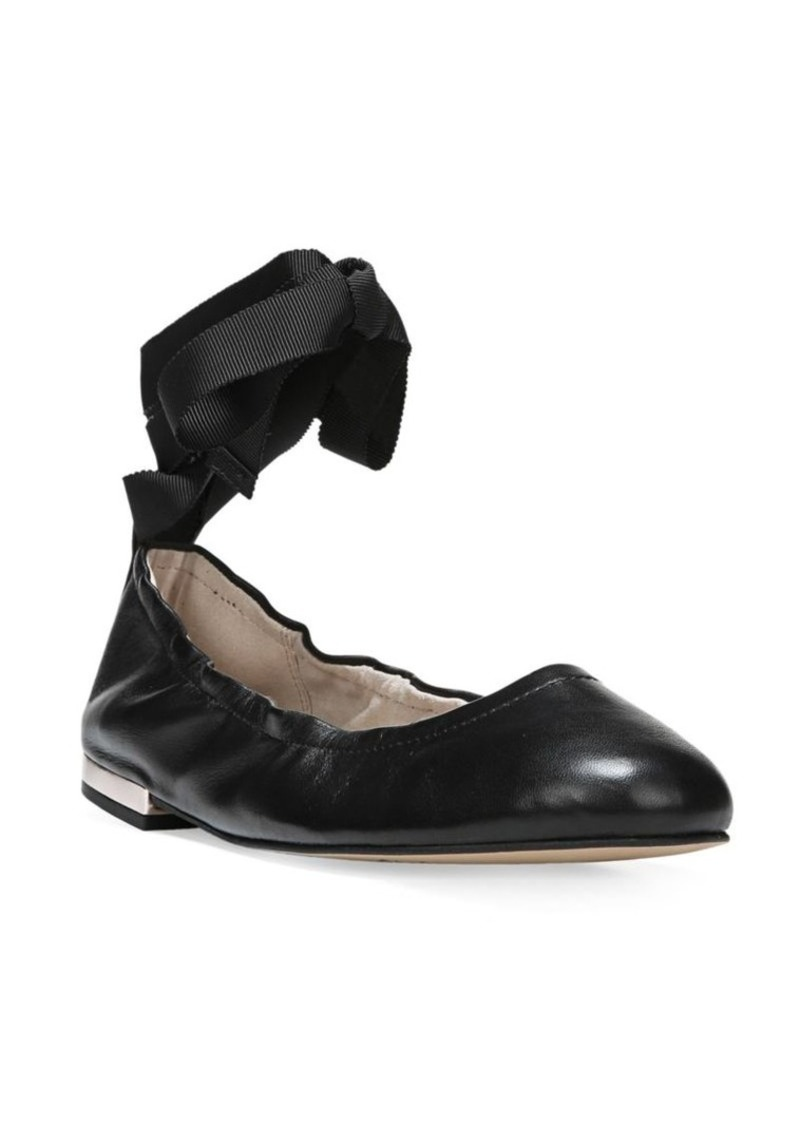 133662917 Sam Edelman Sam Edelman Fallon Leather Lace-Up Ballet Flats | Shoes