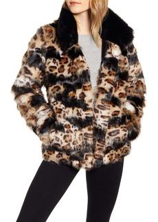 Sam Edelman Faux Fur Coat (Regular & Petite)