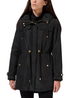 Sam Edelman Faux-Fur Lined Hooded Anorak Raincoat