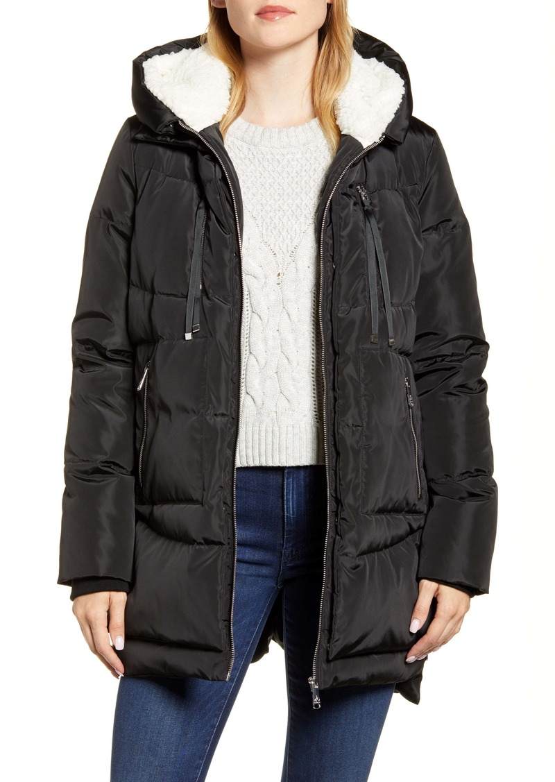 Sam Edelman Faux Shearling Lined Puffer Coat