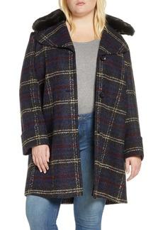 Sam Edelman Faux Fur Trim Bouclé Knit Jacket