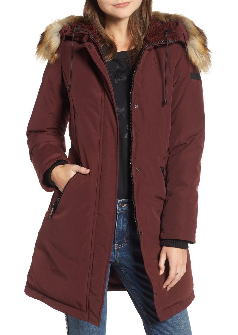 b005cfee6 Sam Edelman Sam Edelman Faux Fur Trim Down Jacket