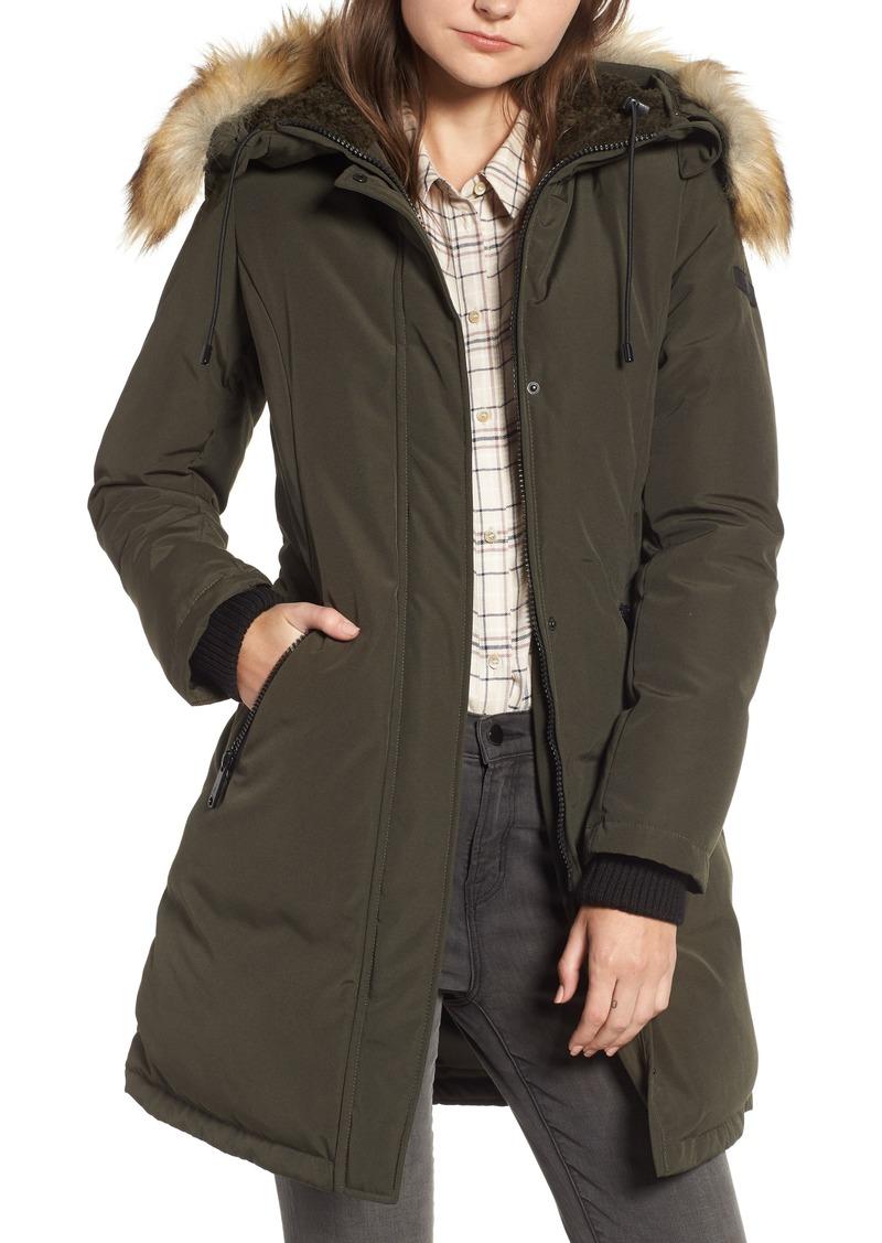 d7a84e7dbeae Sam Edelman Sam Edelman Faux Fur Trim Down Jacket