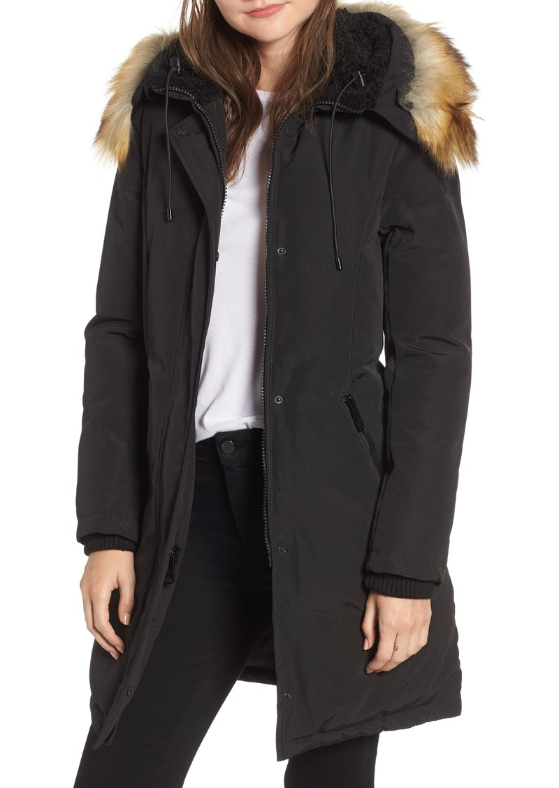 Sam Edelman Faux Fur Trim Down Parka