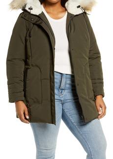 Sam Edelman Faux Fur Trim Jacket (Plus Size)