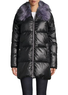 Sam Edelman Faux Fur-Trimmed Down Quilted Jacket