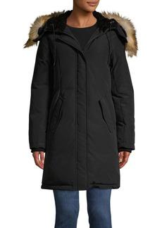 Sam Edelman Faux Fur Trimmed Hooded Fill Parka