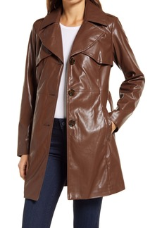 Sam Edelman Faux Leather Belted Trench Coat
