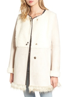 Sam Edelman Faux Shearling Car Coat