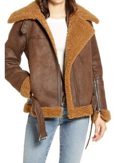 Sam Edelman Faux Shearling Moto Jacket
