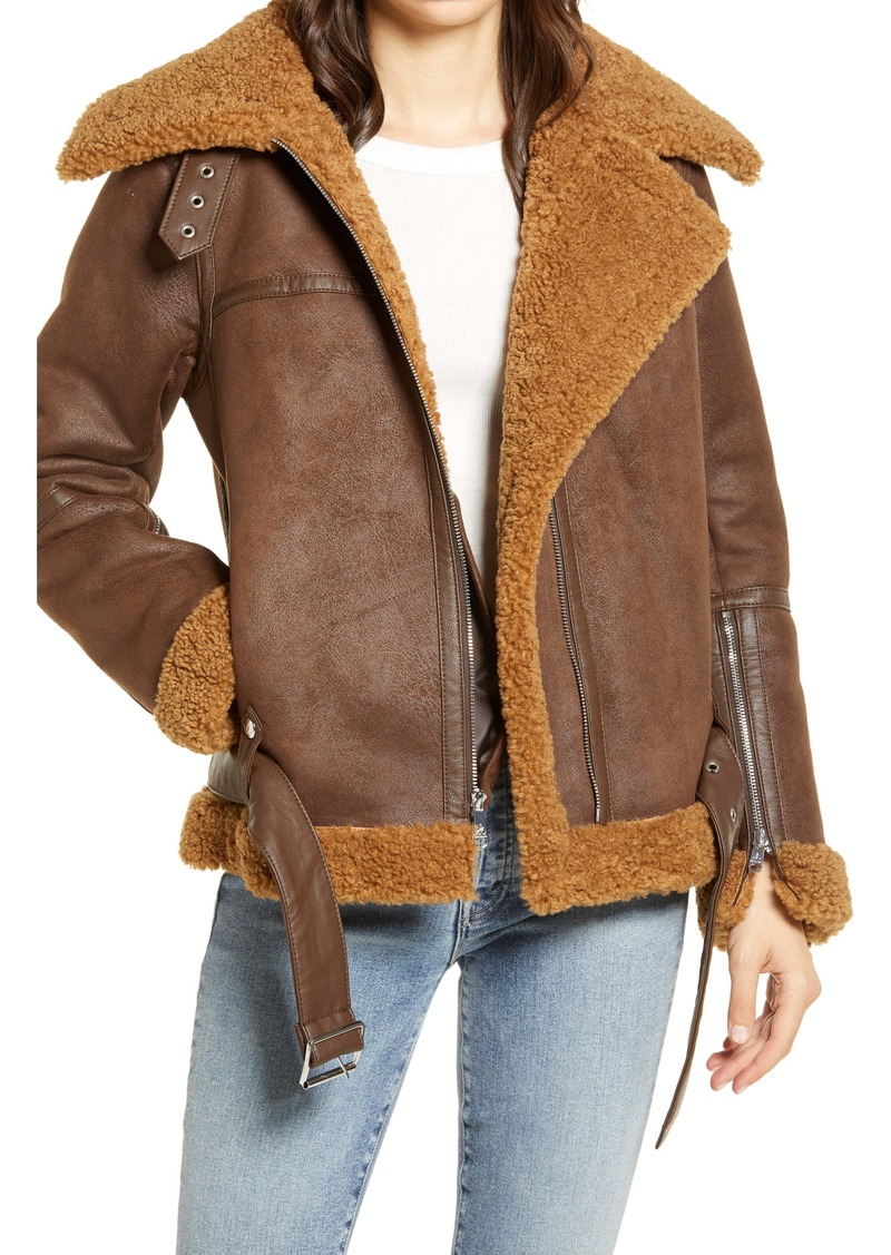 Sam Edelman Faux Shearling Moto Jacket