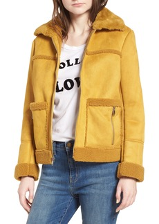 Sam Edelman Faux Shearling Zip Front Jacket
