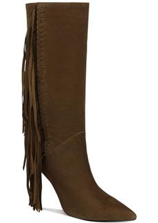 Sam Edelman Fayette Fringe-Trim Boot Women's Shoes