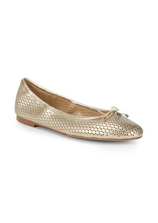 Sam Edelman Felicia Perforated Patent Leather Ballet Flats