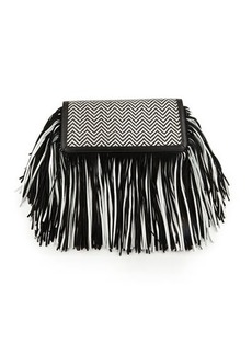 Sam Edelman Fifi Leather Fringe Clutch Bag