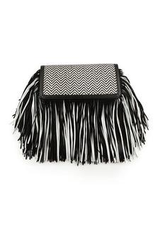 Sam Edelman Fifi Leather Fringe Clutch Bag