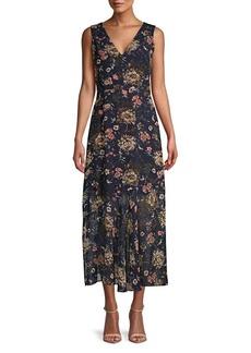 Sam Edelman Floral A-Line Midi Dress