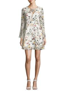 Sam Edelman Floral Bell-Sleeve Shift Dress