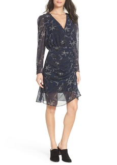 Sam Edelman Floral Chiffon Faux Wrap Dress
