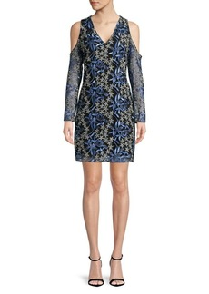 Sam Edelman Floral-Embroidered Mesh Dress