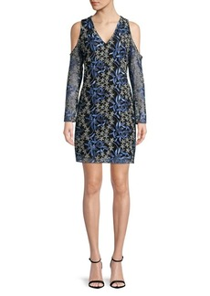 Sam Edelman Floral-Embroidered Mesh Dress