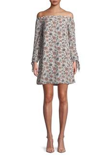 Sam Edelman Floral Off-The-Shoulder Dress