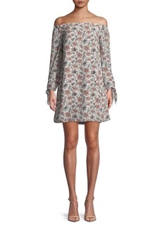 Sam Edelman Floral Off-The-Shoulder Dress