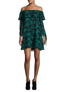 Sam Edelman Floral Off-The-Shoulder Shift Dress