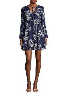 Sam Edelman Floral-Print A-Line Dress