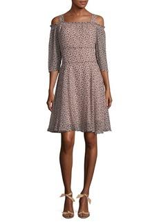 Sam Edelman Floral Printed Off-the-Shoulder Dress